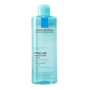 La Roche-Posay Effaclar Micellar Cleansing Water and Makeup Remover for Oily Skin, Oil-Free