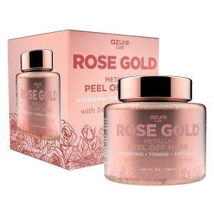 Azure Rose Gold Metallic Sparkling Peel Off Face Mask